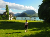 Arriving at Lake Annecy at Talloires, the holiday location of the gods apparently.