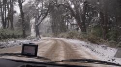 Chillan access road in heavy snow